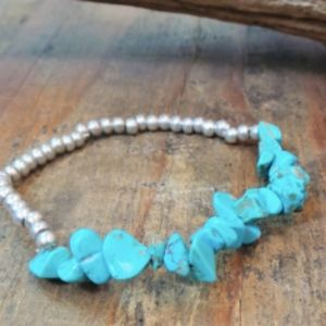 Jewelry - 3 - Turquoise with silver bead bracelet